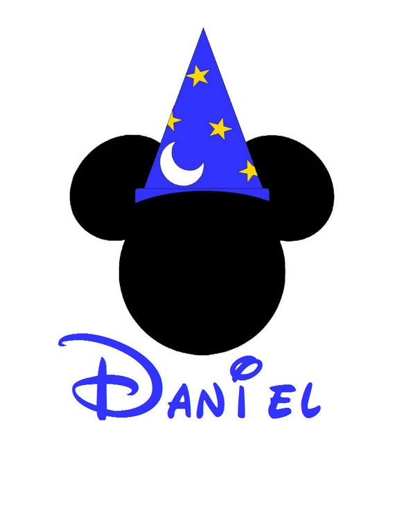 Sorcerer Mickey Personalized Custom Disney Iron on Transfer Decal(iron on transfer, not digital download) Matching Family Vacation Shirts