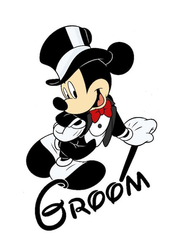 Mickey Groom Custom Iron On Transfer Decaliron On Transfer