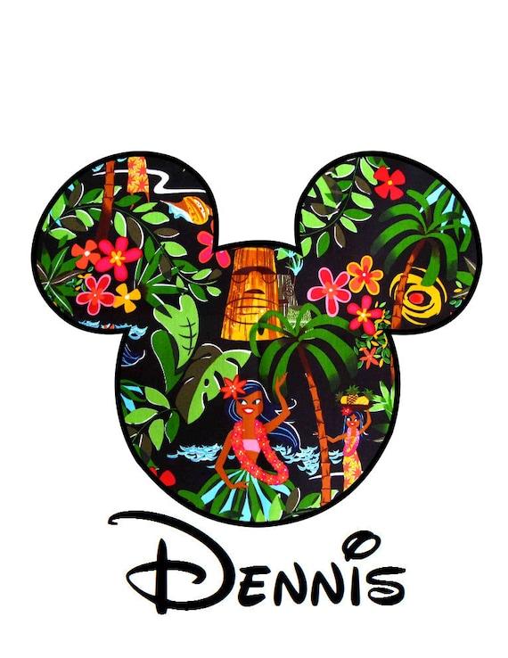 Mickey Mouse Hawaiian Cake