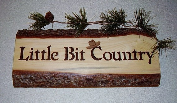 Western Rustic Sign Little Bit Country