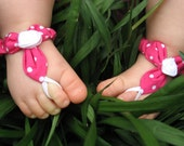 Baby Barefoot Sandals (4-9mo.)-Hot Pink