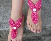 Hot Pink Barefoot Sandals
