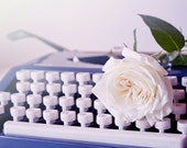 Typewriter and Rose photo Instant Download Photography  Fine Art Photography romantic vintage print still life wall art decor