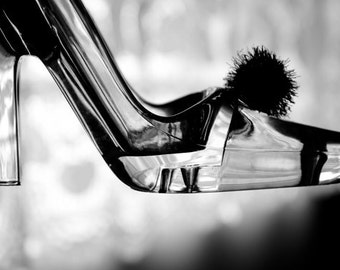Modern Cinderella photo Digital Download Fine Art Photography black and white print still life wall art decor