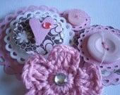Handmade Valentines Day Scrapbooking Embellishments