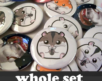 Hamster Buttons (Whole Set)