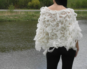 The White Swan - hand-knitted sweater - blouse
