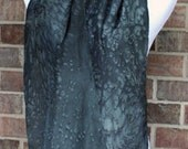 Silk Scarf with Black Speckled Pattern