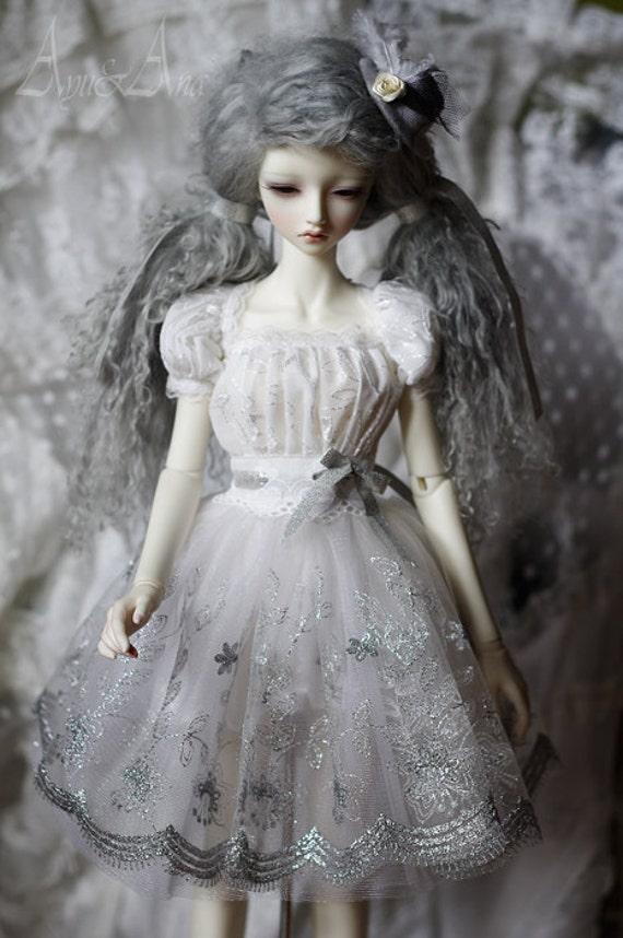 White silver SD dress