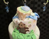 Diaper Cake For Baby Shower - 3 Tier
