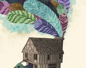 Birdhouse Revisited  - fine art print 9x12