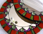 Mirror mosaic round two matching pieces