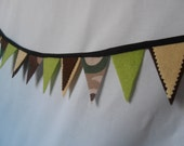 Felt Bunting - Boys - Brown Camouflage
