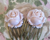 Rose hair combs