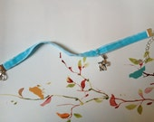 Children's/girls velvet ribbon deer necklace