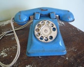 Vintage Toy Phone, Dial o' Phone, gift for children, vintage child room, retro kids toys