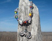 Reminder Bracelet With Bicycle Charm - Keep track of your fitness, Create healthy habits