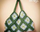 Crocheted Bag / Purse, Granny Square Crochet, Women Fashion, Ready to Ship