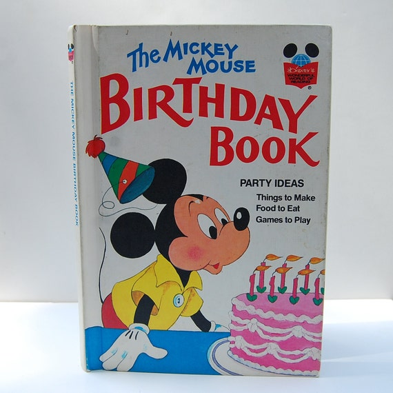 The Mickey Mouse Birthday Book Walt Disney Children's