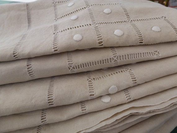 90.1 wide, Magnificent unused french linen sheet or bedspread, king size