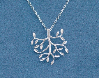 Silver Tree Necklace - Tree Pendant on 925 Sterling Silver Chain - Nature Jewelry, Gift, Wedding - Family Tree