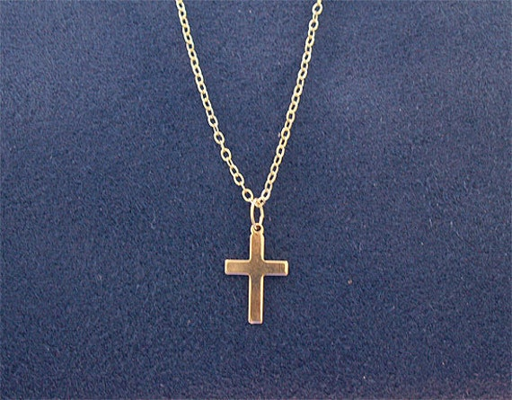 Delicate Cross Necklace - Vermeil and Gold Filled