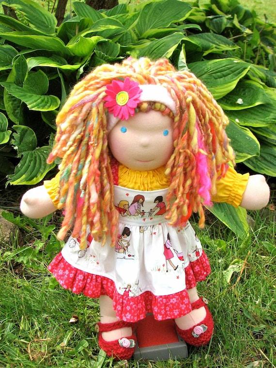 Waldorf Doll, 15 inch, luvkin, Posie