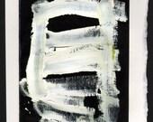 White Oil Paint on Black Paper