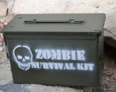 The Original Ammo Can Zombie Survival Kit made from Surplus Ammo Can Box
