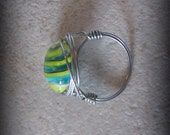 Colorful Wire Wrapped Ring