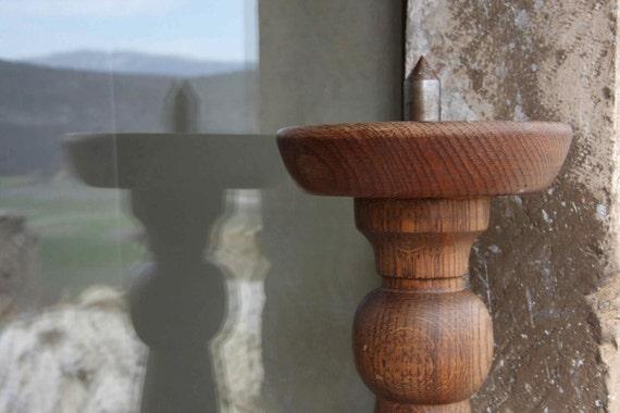 Italian vintage wooden candlestick
