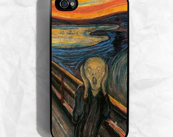The Scream by Munch iPhone Hard Case / Fits iPhone 4, 4s