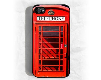 iPhone 4 case iPhone 4s case - Red British Phone Booth iPhone Case