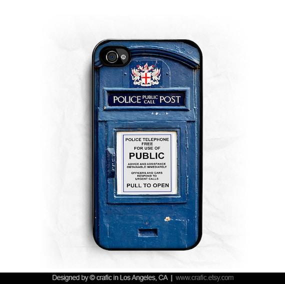 British Police Box iPhone 4 Case, British iPhone 4S case, England iPhone 5 case, Police Box iPhone 5S Case, Unique Galaxy S3/S4 Case - SALE!