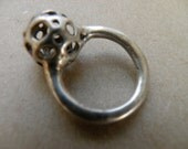 Space-Age Molten Silver Ring