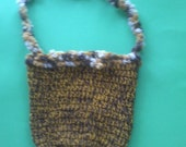 Multicolored Orange and Brown Crochet Purse made with special material