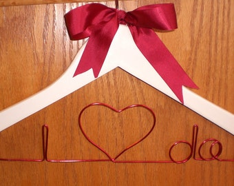 I Do hanger/Personalized Hangers/Bridal Parties/Mother Of The Bride/Bride/Personalized Bridal Hangers