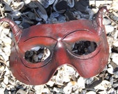 Red Satyr Leather Mask