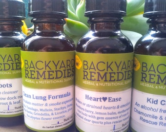 3 Herbal Tinctures - 1oz Mix & Match - REDUCED PRICE SHIPPING