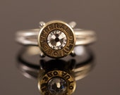 "Ammo 380 bullet Sterling Silver Bullet Ring-""Bullet Lady""-Size  7 or 8- Free U.S. and Canada Shipping"