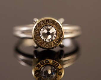 """Sterling Silver Bullet Ring-""""Bullet Lady""""-Size 8 - Free Shipping"""