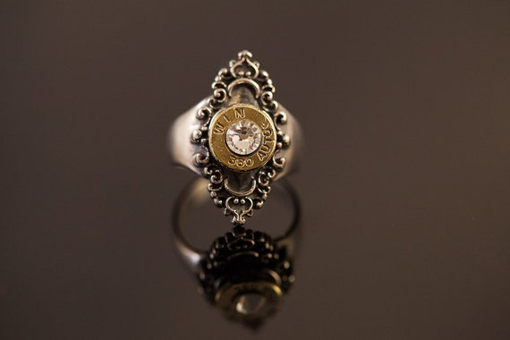 "Sterling Silver Filigree Bullet Ring-""Jeuarlet's Bullet Ring""-FREE SHIPPING"