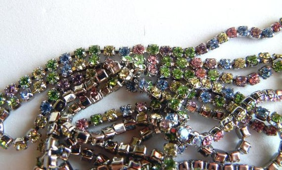 Multi-Colored 2mm Swarovski Crystal Cupchain, 39""