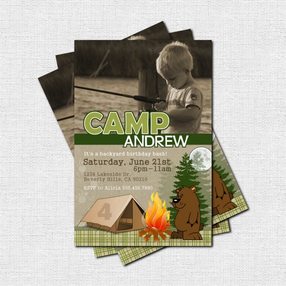 Items Similar To Personalized BACKYARD CAMPOUT CAMP Party