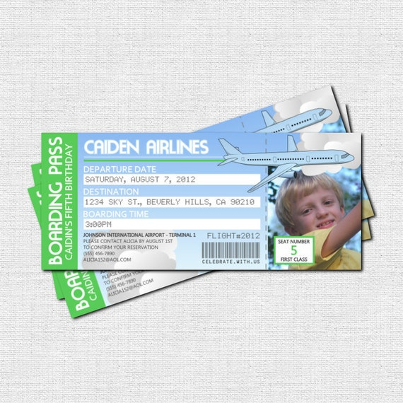 Items Similar To Airplane Birthday Invitation: Items Similar To AIRPLANE BOARDING PASS Invitations