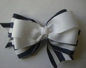 Navy and white nautical style bow