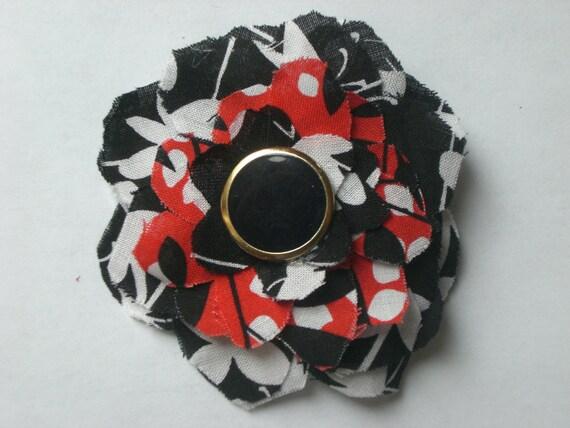 Floral floppy fabric hair clip