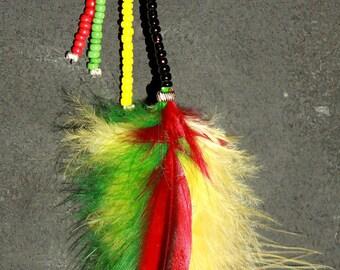Rasta Feather Necklace
