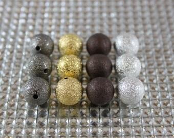 Shiny, Metallic Aluminium beads, many sizes available