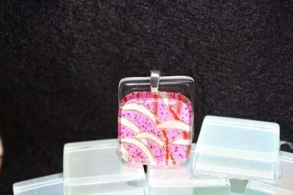 Chiyogami Glass Pendant